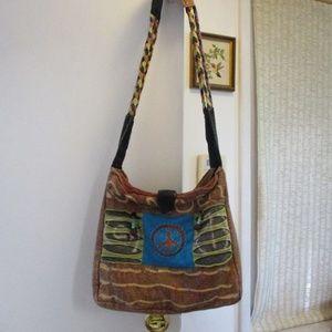 Handbags - Hippie Boho Peace Purse Nepal Batik Tie Dye 90's